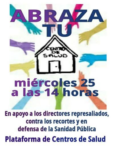 ABRAZA TU CENTRO DE SALUD Miercoles 25-J 14 horas