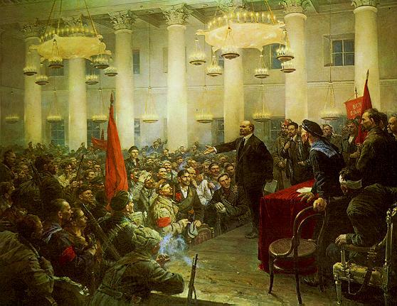 Lenin en el II Congreso de los soviets de Vladimir Serov